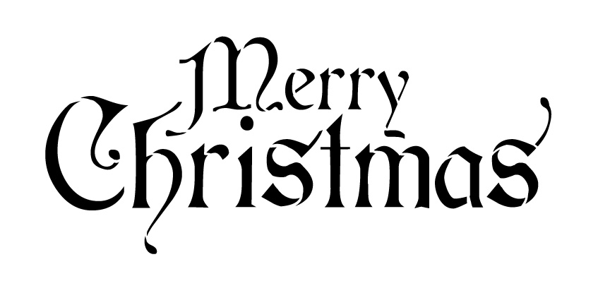 Word Stencil - Merry Christmas - Regal Stacked