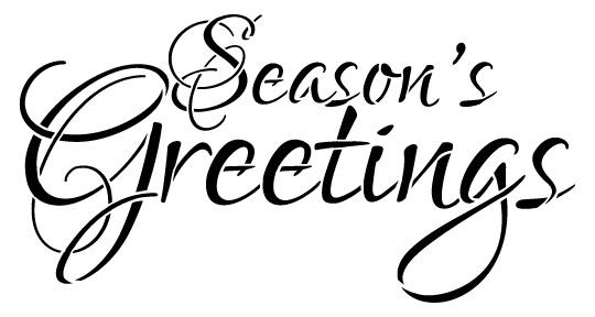 Word Stencil - Season's Greetings - Elegant 16 x 8