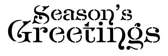 Word Stencil - Season's Greetings - Noble 16 x 8