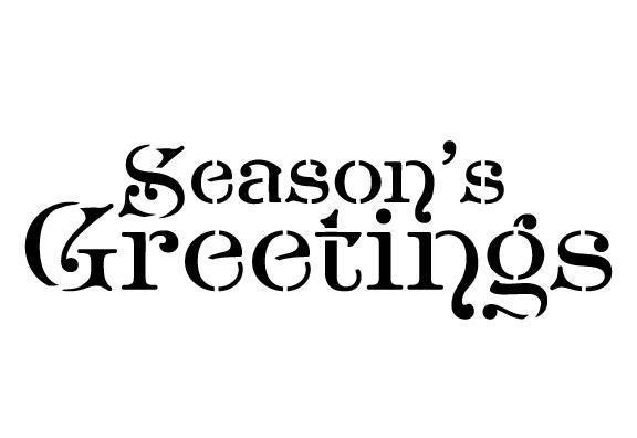 Word Stencil - Season's Greetings - Noble 8 x 4