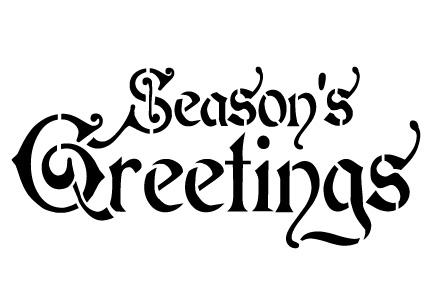 Word Stencil - Season's Greetings - Regal 8 x 4