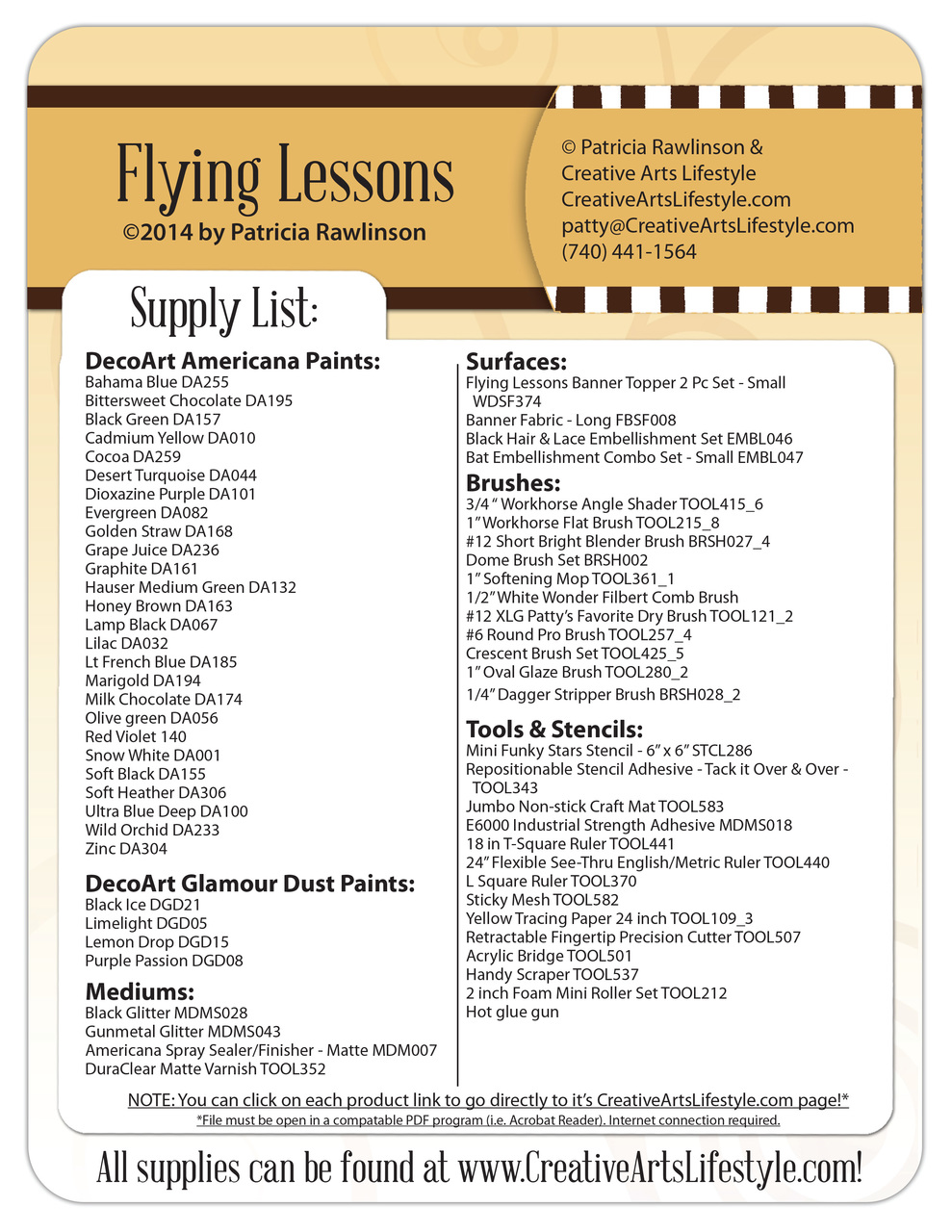 Flying Lessons DVD & Pattern Packet - Patricia Rawlinson