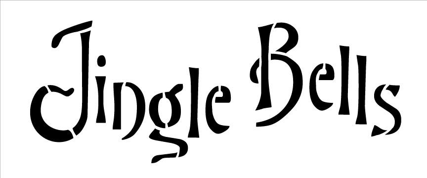 Word Stencil - Jingle Bells - 5 in x 2 in
