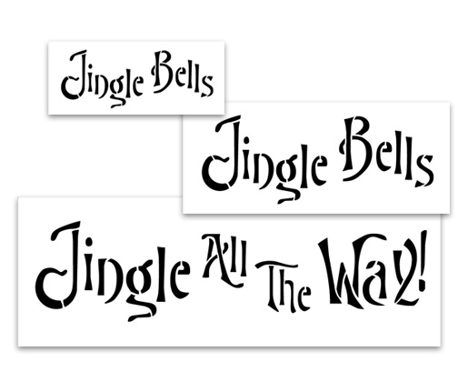 Word Stencil - Jingle All the Way 3 piece Set