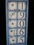 Blue Delft House Numbers packet -Patricia Rawlinson