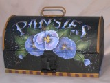 Pansies on Tin packet - Patricia Rawlinson