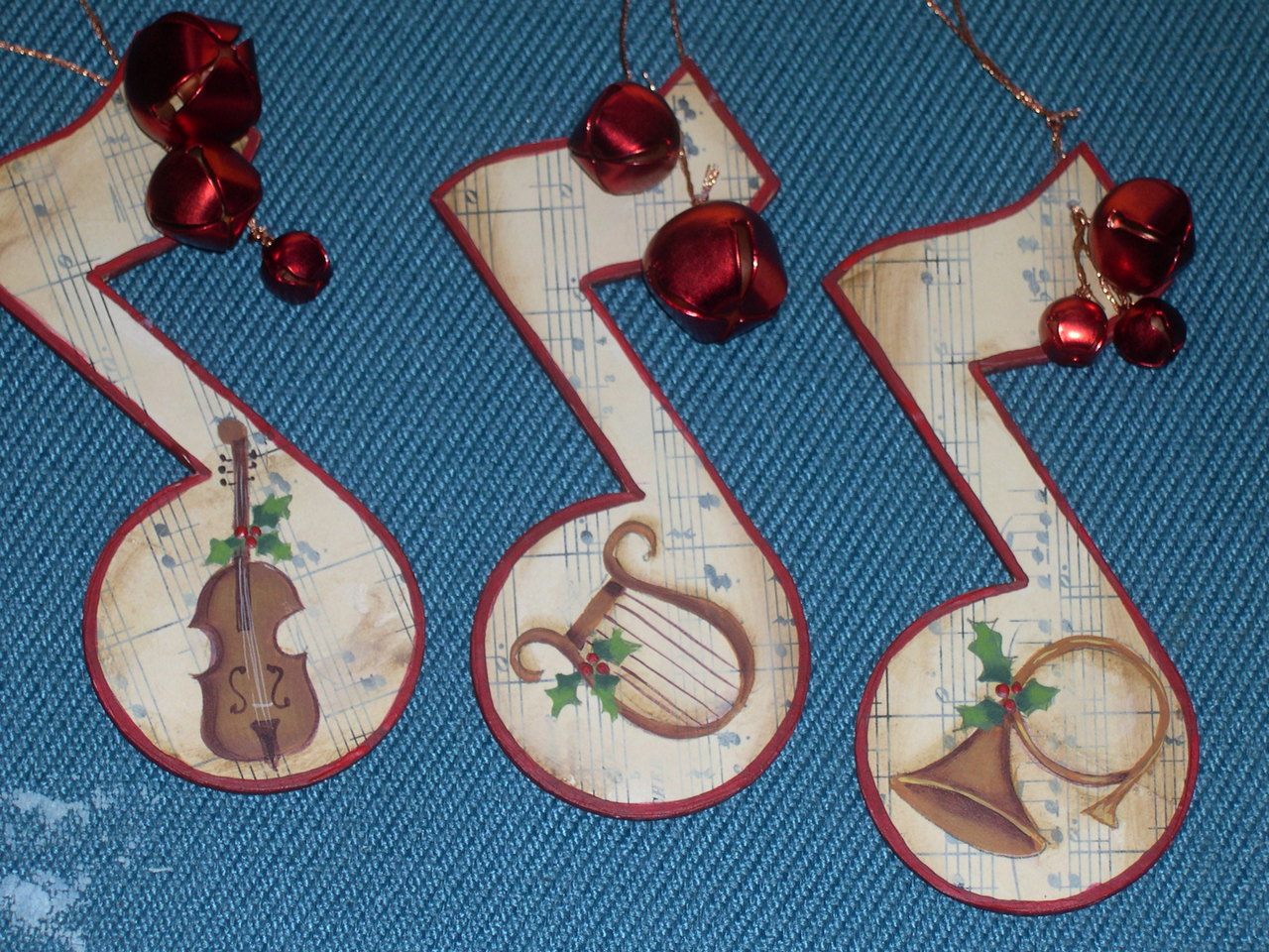 Musical Christmas Ornaments packet - Patricia Rawlinson