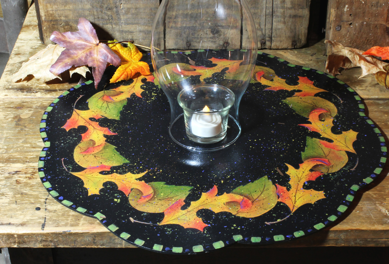 Fall Leaves Lazy Susan packet - Patricia Rawlinson