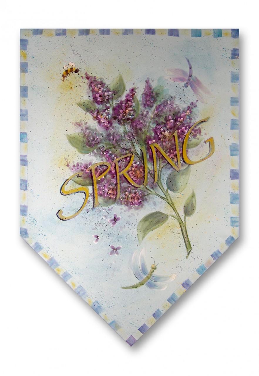 Spring Lilacs Banner packet - Patricia Rawlinson