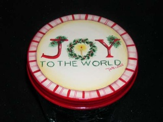 Joy to the World Candy Jar Topper packet - Patricia Rawlinson
