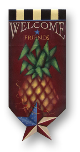 Welcome Friends Pineapple Banner packet - Patricia Rawlinson