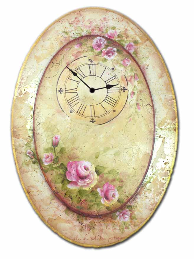 Oval Rose Clock packet - Patricia Rawlinson