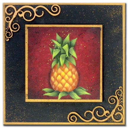 All Season Plaque - Pineapple packet - Patricia Rawlinson