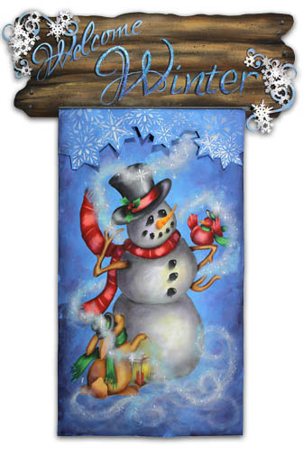 Welcome Winter Banner packet - Patricia Rawlinson