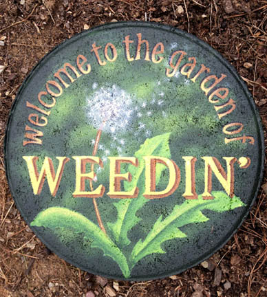 Garden Of Weedin' Stepping Stone Pattern Packet - Patricia Rawlinson