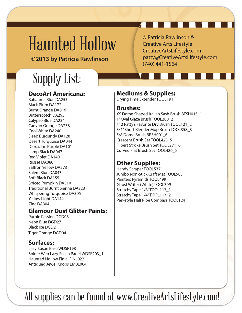 Haunted Hollow Pattern Packet - Patricia Rawlinson