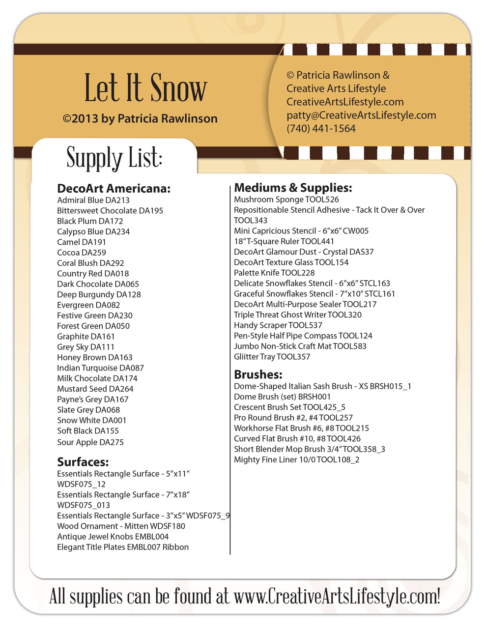 Let It Snow Pattern Packet - Patricia Rawlinson