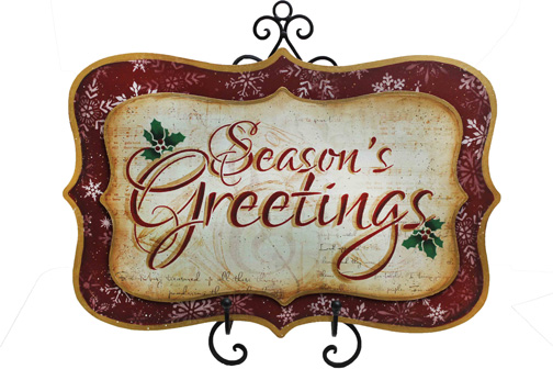 Seasons Greetings Welcome Sign Paper Packet - Patricia Rawlinson