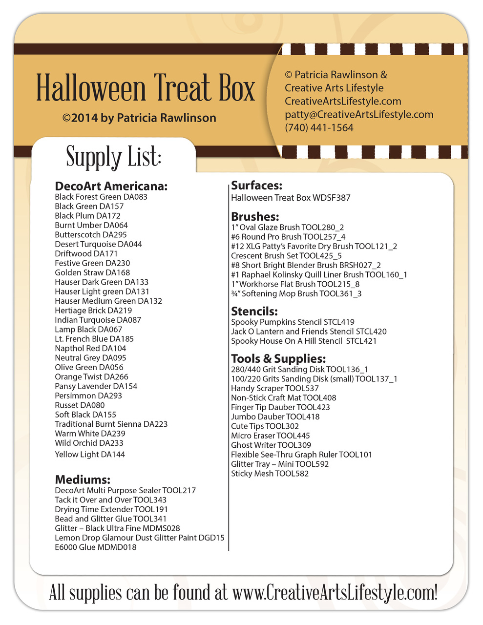 Halloween Treat Box Pattern Packet - Patricia Rawlinson
