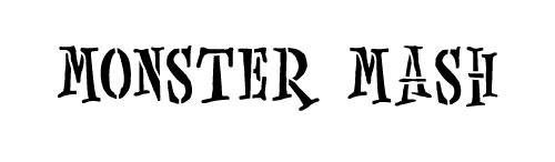 Word Stencil - Monster Mash