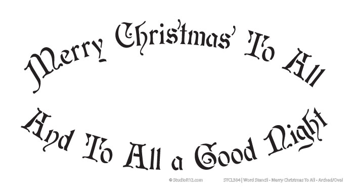Word Stencil - Merry Christmas to All