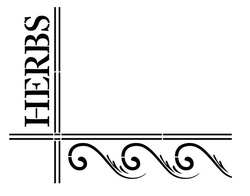 Elegant Herb Stencil