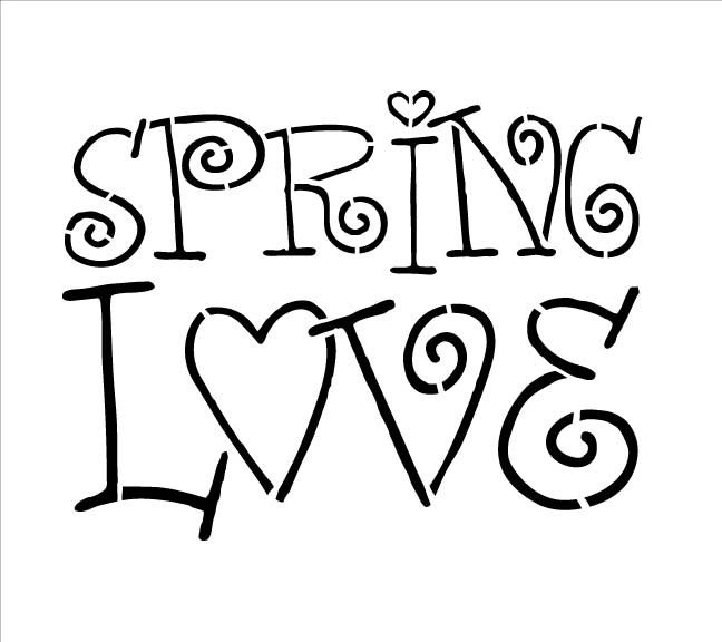 Word Stencil - Spring Love