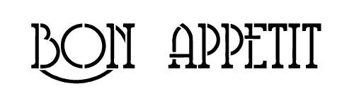 Word Stencil - Bon Appetit - Retro Deco