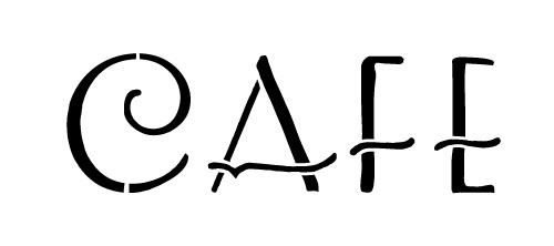 Word Stencil - Cafe - Art Deco