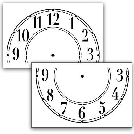 Schoolhouse Clock Stencil - 14 inch Clock