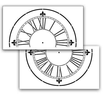 Victoria Station Clock Stencil - 12 inch Clock
