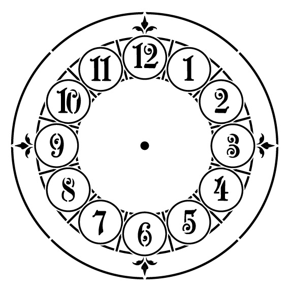 Manchester Clock Stencil - 24 inch Clock