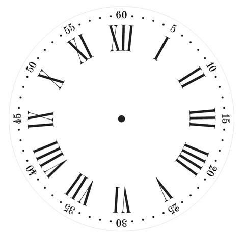 Nantucket Clock Stencil - 15 inch Clock