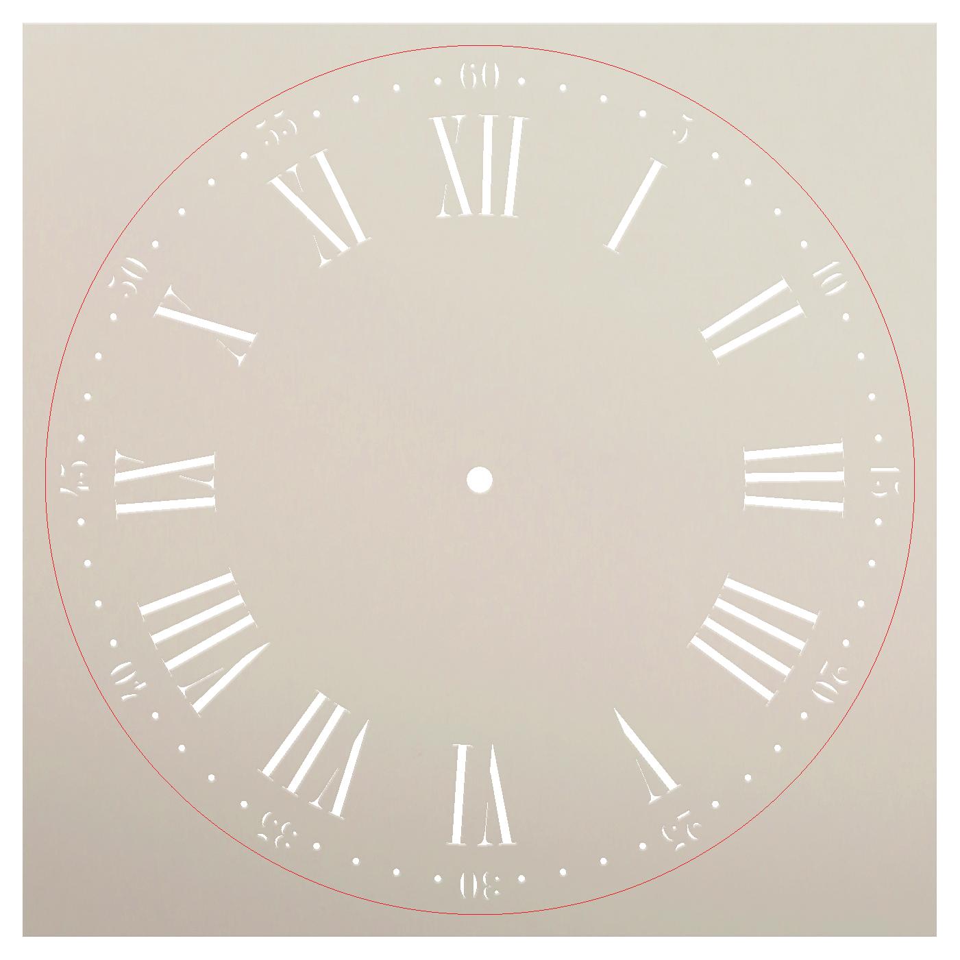 Nantucket Clock Stencil - 18 inch Clock