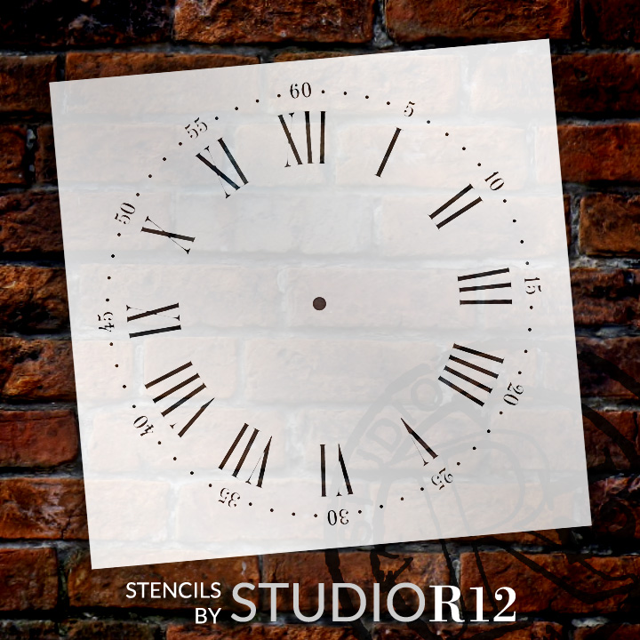 Nantucket Clock Stencil - 14 inch Clock