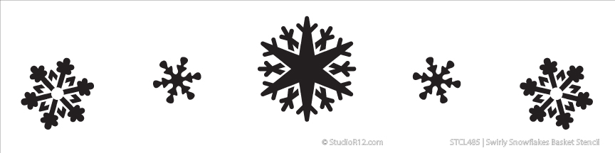 Snowflake Basket Stencil