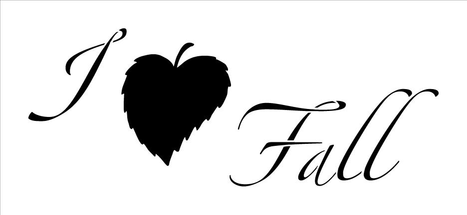 I Leaf Fall Stencil
