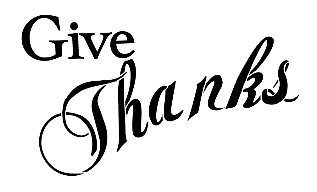 Give Thanks Banner Stencil