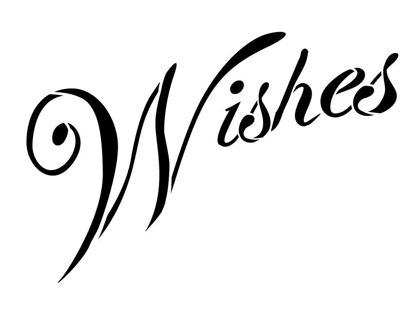 Summer Wishes Banner Stencil