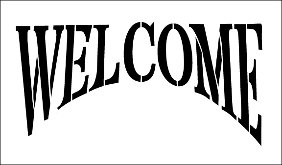 Word Stencil - Welcome - Colonial