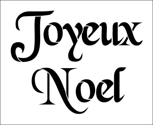 Word Stencil - Joyeux Noel