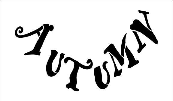 Word Stencil - Autumn Harvest Banner