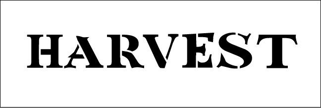 Word Stencil - Tuscan Harvest Banner