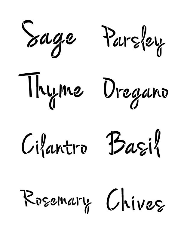 Herb Words Stencil