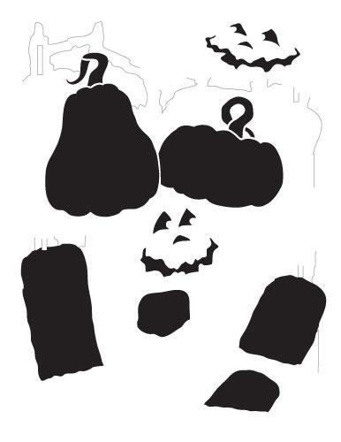 Spooky Pumpkins Stencil