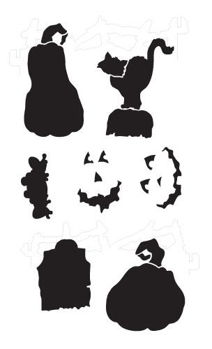 Jack O Lanterns and Friends Stencil