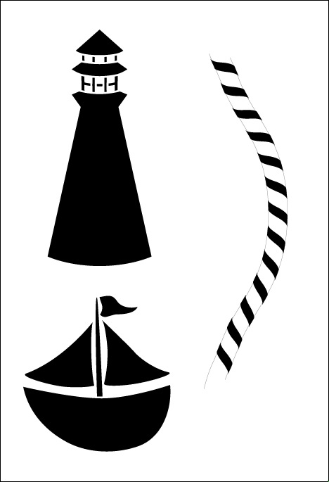 Lighthouse Lazy Susan Stencil