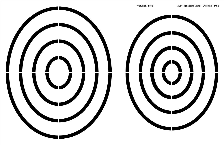 "Banding Stencil - Oval Innie 1/4"""