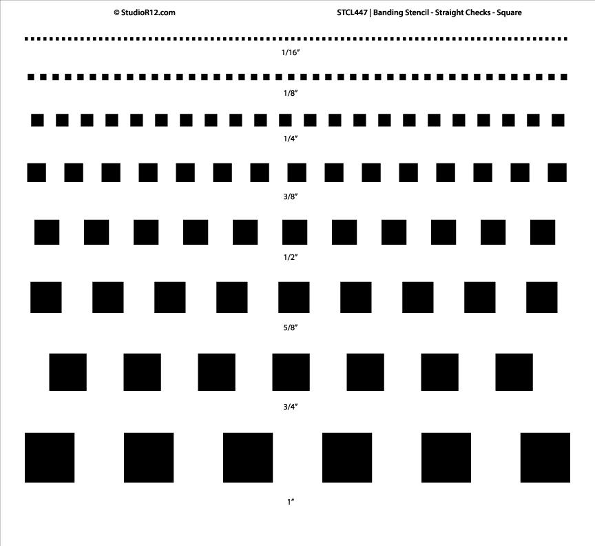Banding Stencil - Straight Checks - Square