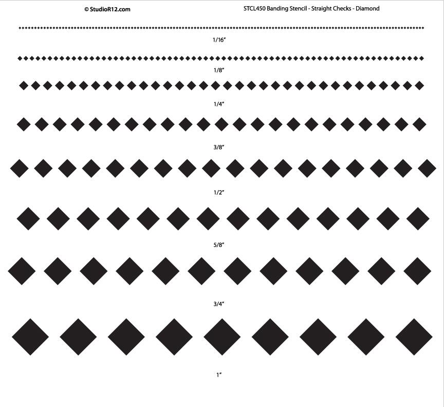 Banding Stencil - Straight Checks - Diamond